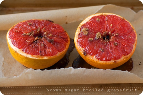 brown sugar broiled grapefruit & drink | victuals | Pinterest