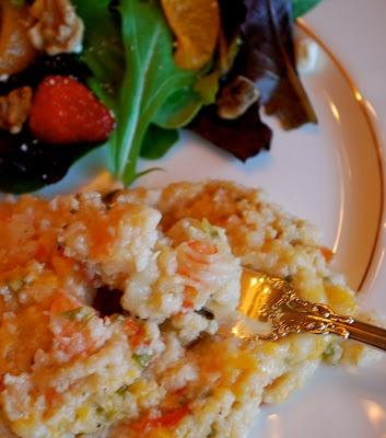 Shrimp and Grits Casserole | Amanda Jane Brown