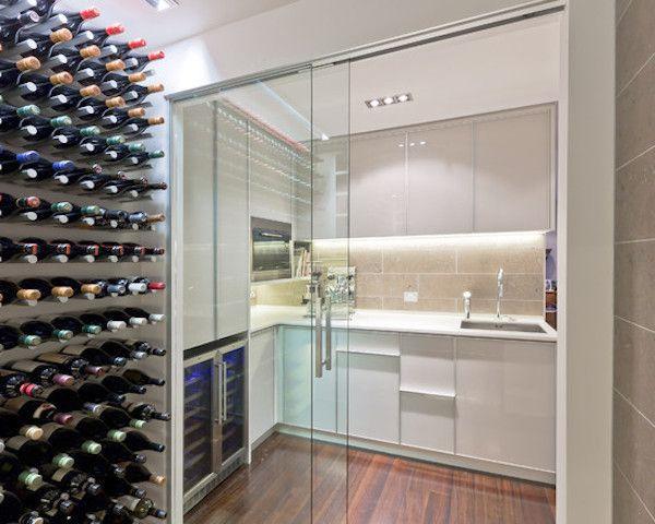 modern wet bar wine room design wine fridge bar display