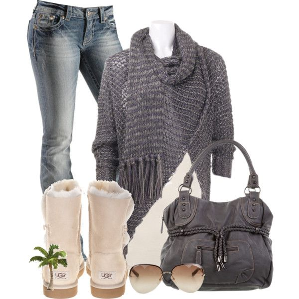 gret knitted sweater,scarf,jeans,handbag,boots and glasses
