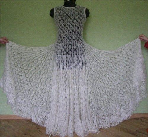 Bootie Knitting Patterns Easy : Knitted wedding dress Wedding dresses Pinterest