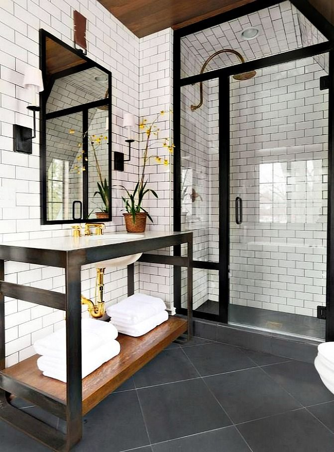 Industrial Chic Bathroom Bathrooms Pinterest