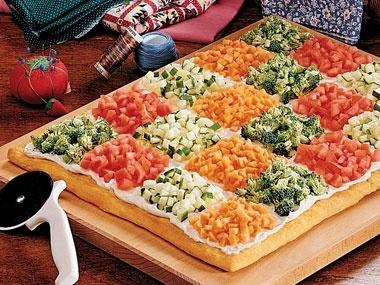 Patchwork Quilt Pizza | Recipes | Pinterest