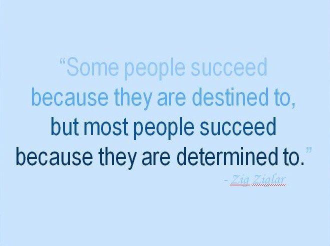 Determination successful essay