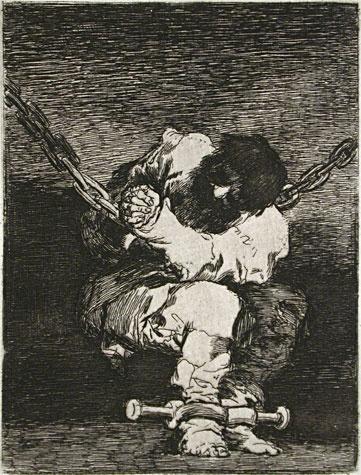 Goya - Little prisoner (1807) etching