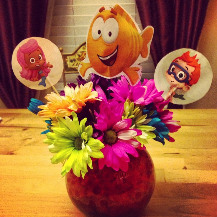 Bubble guppies birthday centerpiece leah and brayden birthday ideas pinterest - Bubble guppies center pieces ...