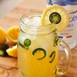 refreshing lemonade with a spicy kick from jalapeño, taken up a ...