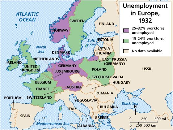 Unemployment in Europe post wwI pre wwII Teaching Pinterest