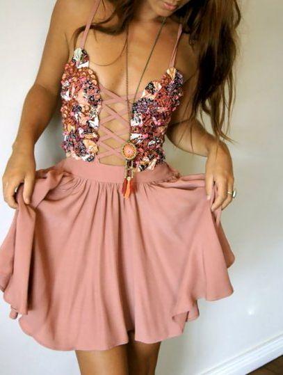 Lace up dress