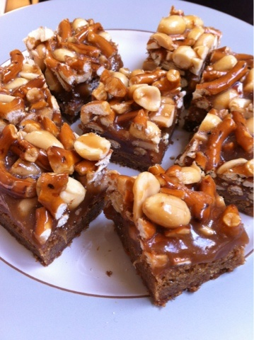 Butterscotch Blondie Bars with Peanut-Pretzel Caramel | Dinner in ...