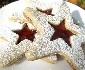 ... | Raspberry Linzer Stars : We make this classic cookie with pure