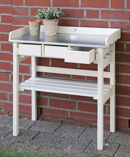 White Garden Work Bench Fashion Gifts Foods That I