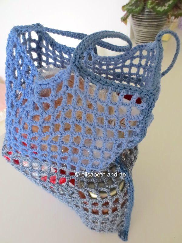 Crochet shopping bag Yarnin Misc. Pinterest