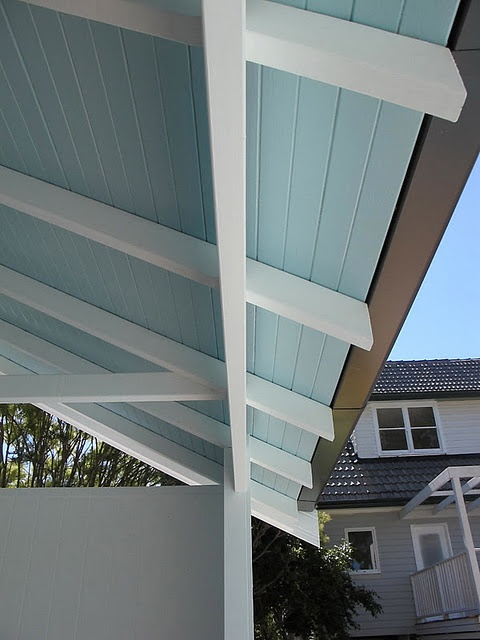 Blue porch ceiling paint pinterest for Balcony ceiling