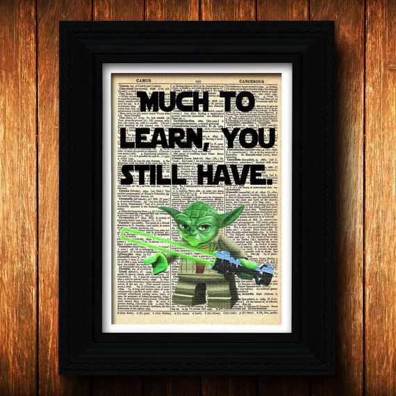 Yoda Quote Star Wars Lego  Birthday  yoda print by TellTalePrints, $10.00