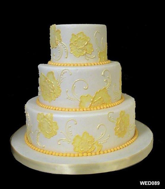 Brushed Embroidery Wedding Cake  Our Wedding Cakes