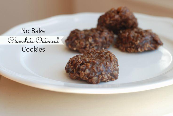 No Bake Chocolate Oatmeal Cookies-stupid easy