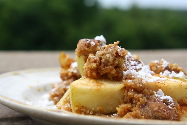 Skinny Apple Crisp Recipe - Love fall, but also love fitting into my ...
