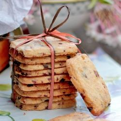 dried cherry shortbread. | sweets. | Pinterest