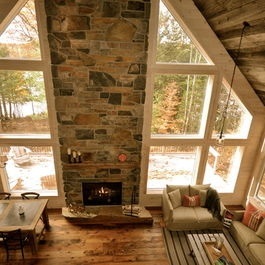 Floor to ceiling fireplace and windows for the home - Floor to ceiling fireplace ...