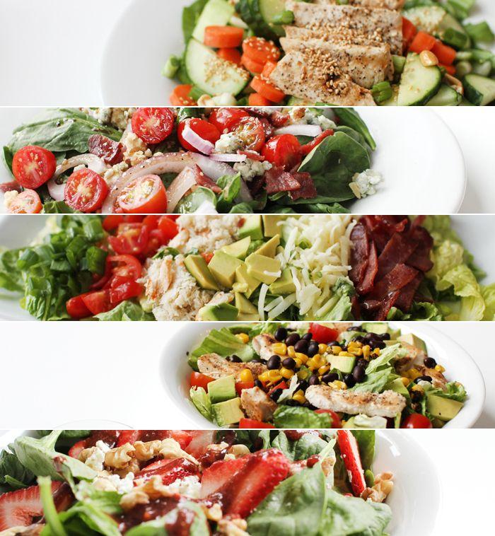 Salad ideas salads ruffage pinterest for Salas ideas