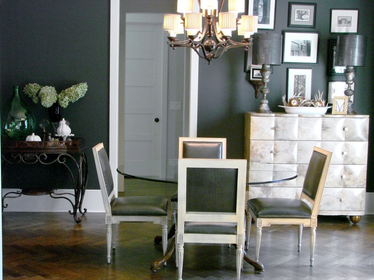 Benjamin Moore Deep River :: paint color on walls.  like.