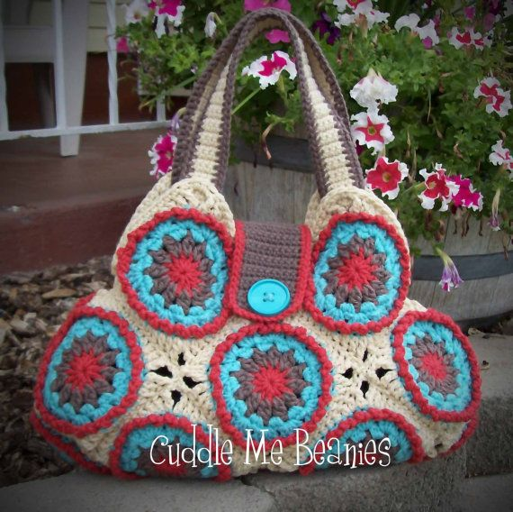 ROUNDABOUT Bag Crochet Pattern Pdf by CuddleMBeanies on Etsy, $6.99