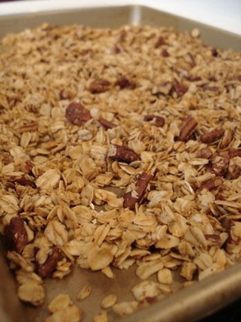 Maple Pecan Granola! A simple to make, lower calorie version of one of ...