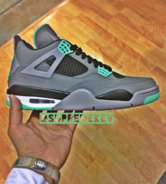 Air Jordan 4  quot Green Glow quot       cop Jordans 4 Green Glow Shirt