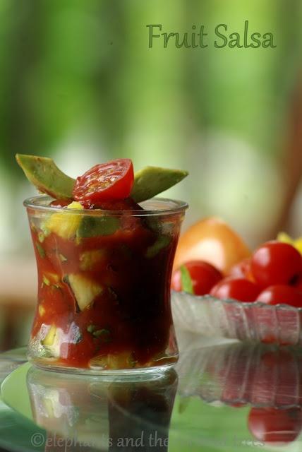 ... Salsa / Fruit Salsa / Tropical fruit salsa for cocktail shrimp
