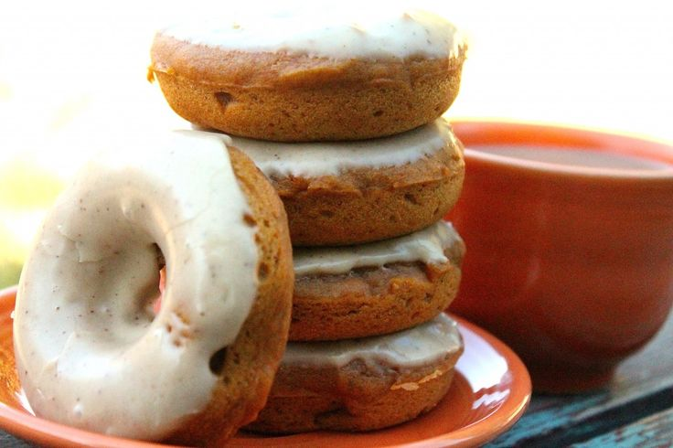 ... egg, nut free baked pumpkin maple donuts with cinnamon spiced glaze