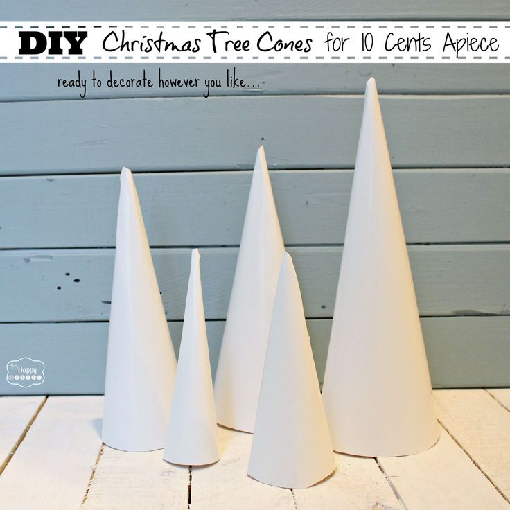 How to make a cone tree from poster board