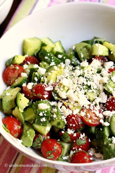 Cucumber Tomato and Avocado Salad | .: ♨ Bon Appetit ...