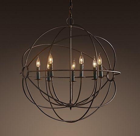 dining room lighting foucault 39 s iron orb chandelier by restoration