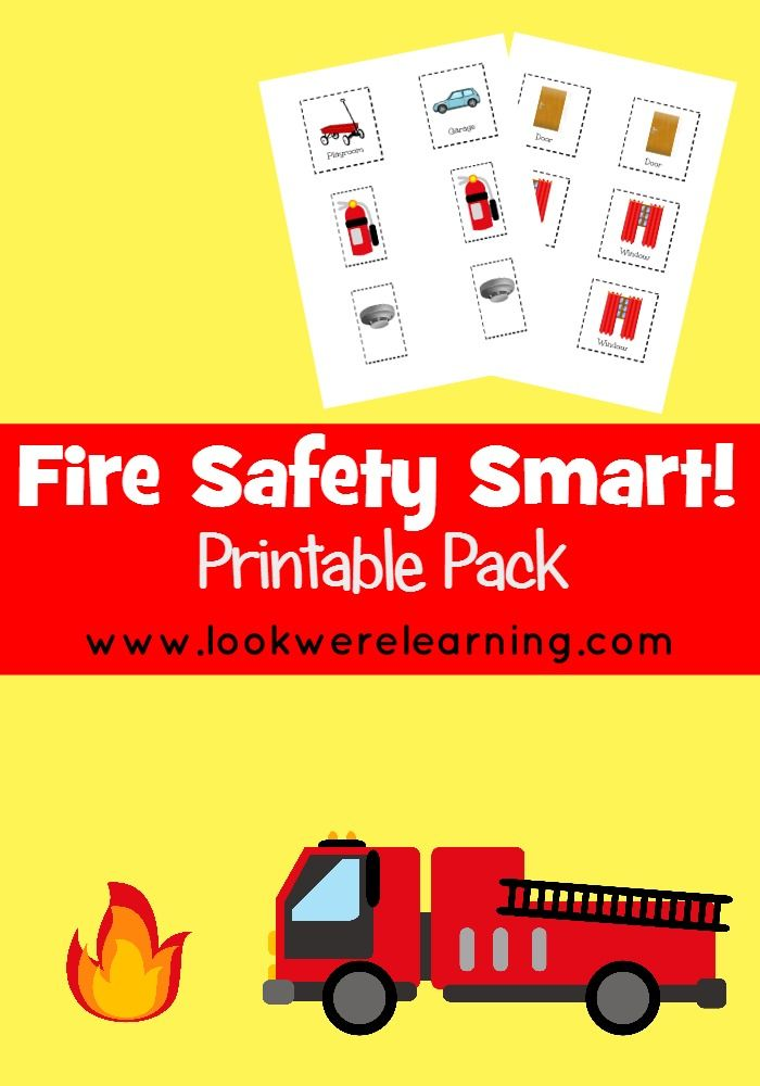 Fire safety smart printable pack a fun cut and paste for Fire escape plan for kids