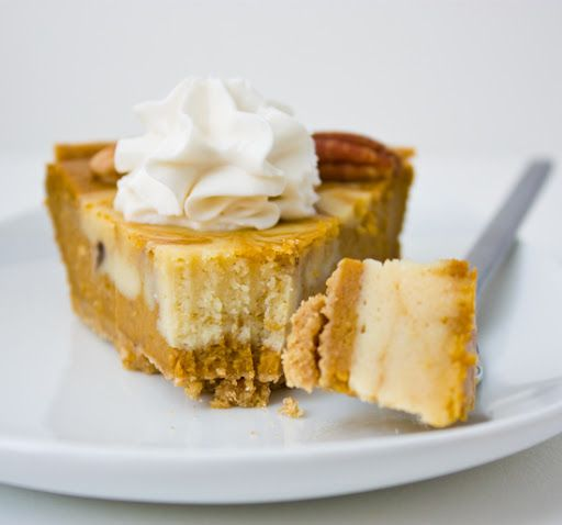 Cheesecake Pumpkin Pie. Swirled. Rice Cream on Top. #vegan #pumpkin # ...