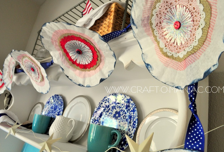 Patriotic Coffee Filter Garland