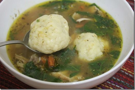 GF Chicken Dumpling soup... almond flour, arrowroot starch, (Himalayan ...