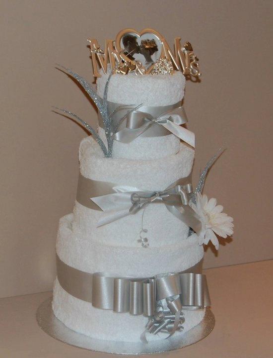 Wedding Towel Cake Diaper Centerpieces Pinterest