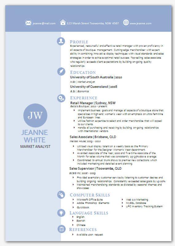 modern microsoft word resume template jeanne white 03