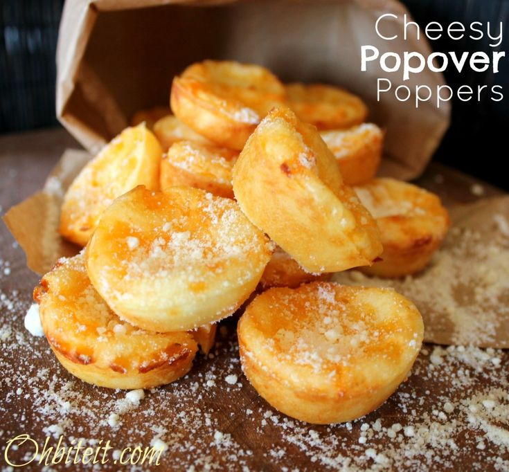 Cheesy Popover Poppers! Takes tapioca powder... Looks like the ...