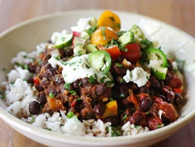 ... cooking: Smoky Chipotle Black Bean Chili with Summer Vegetable Salsa
