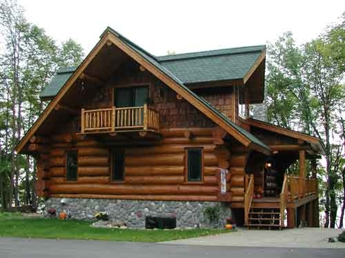 Great log house log cabins pinterest for Cabin exterior design ideas