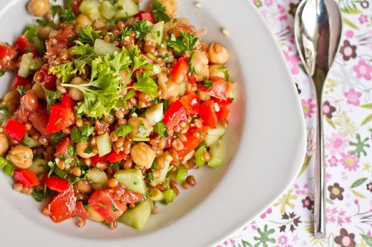 Back On Track Wheat Berry and Bean Salad - One of my absolute ...
