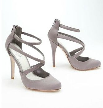 Truly Zac Posen Strappy Closed Toe Platform Style ZP621454, in Portobello. #davidsbridal #shoes #trulyzacposen #grayweddings