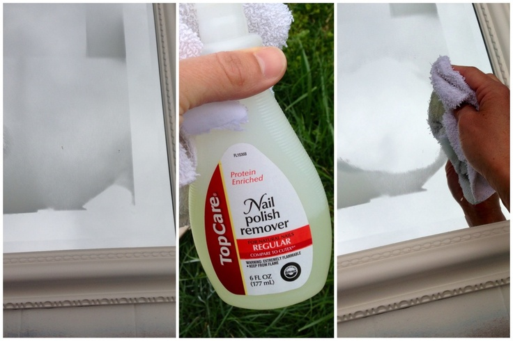 how to remove spray paint from a mirror i recently re painted the. Black Bedroom Furniture Sets. Home Design Ideas