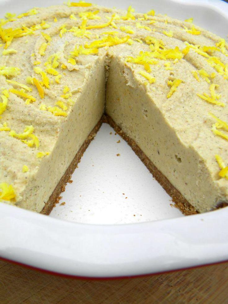 Raw Vegan Meyer Lemon Cream Pie | Citrus recipes | Pinterest