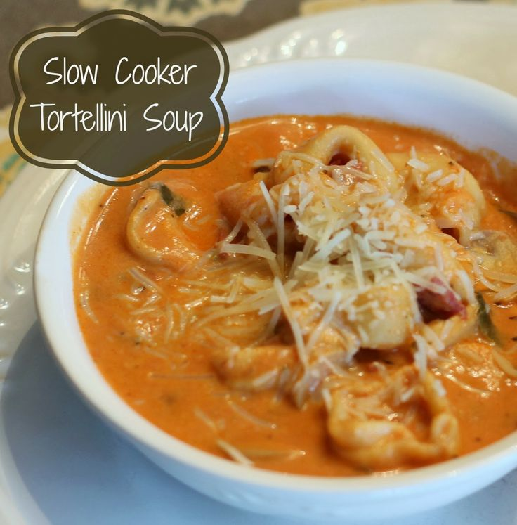 Creamy Slow Cooker Tortellini Soup | yum | Pinterest