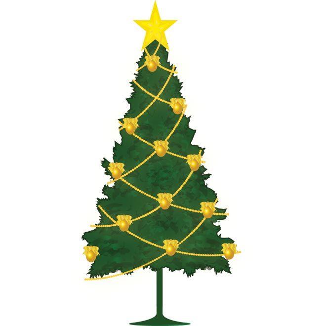 Vector Christmas tree clip art | Marry Chrismis vector Graphics | Pin ...