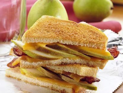 Pear & Bacon Grilled Cheese Sandwich. | Yummies! | Pinterest